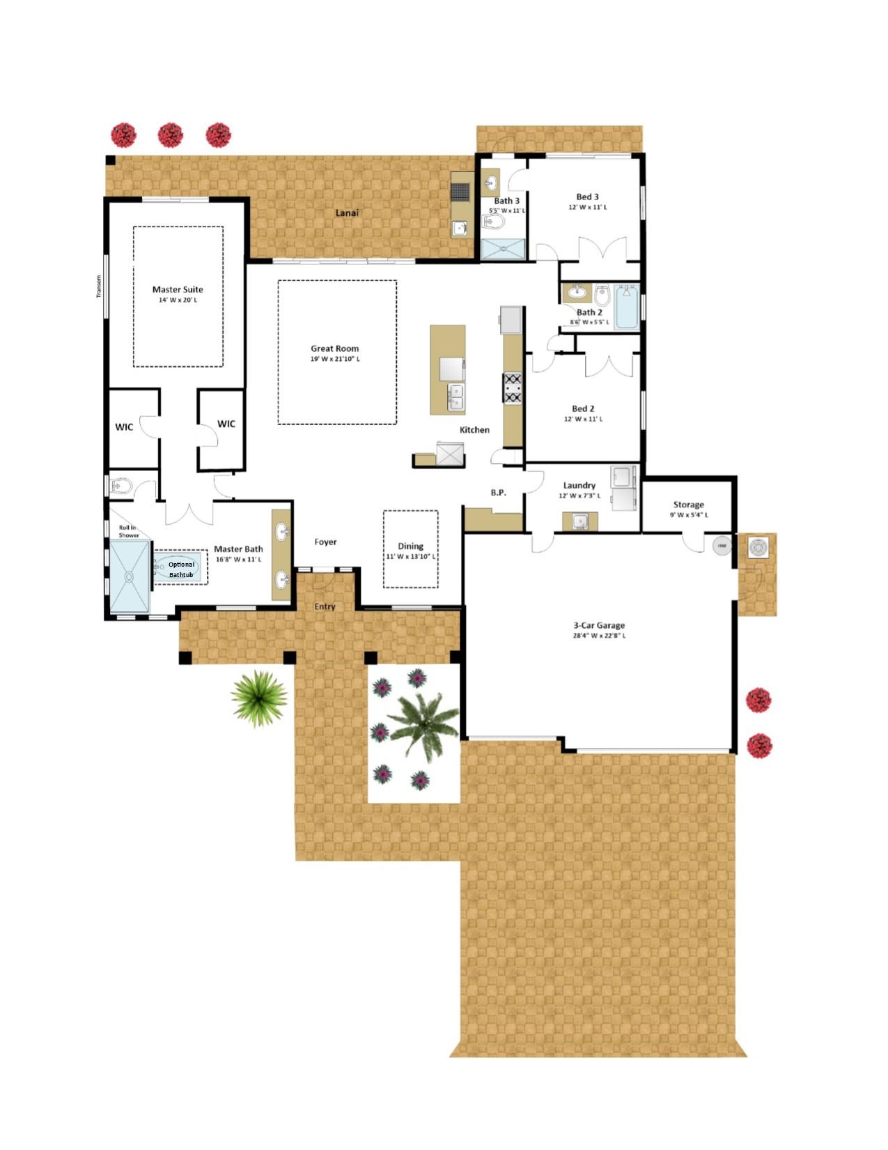 Ceitus – 3 Bedroom 3 Bath 3 Car Garage